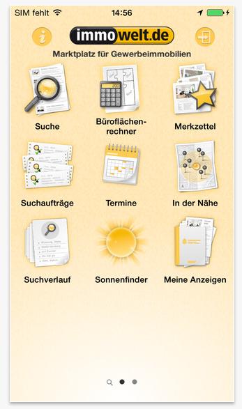 Die Iphone-App von Immowelt