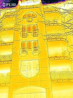 Wärmebild einer Fassade