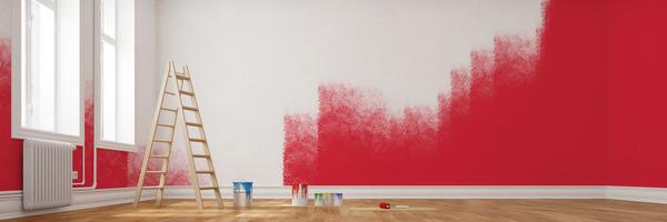 Auch knallige Farben sind beim Streichen erlaubt (Fotolia/Robert Kneschke)